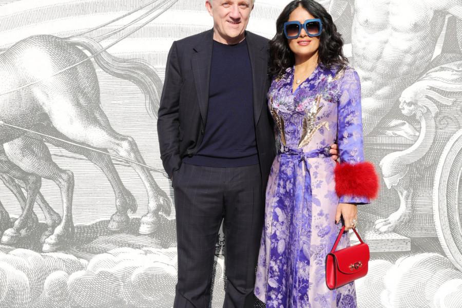 PORODIČNO NA MODNOJ REVIJI PRIVUKLI PAŽNJU: Salma Hajek i muž milijarder pokazali ćerku (foto)