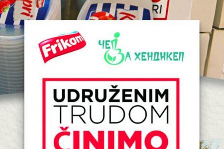 """Velika podrška Frikoma udruženju """"ČEP ZA HENDIKEP"""": Potrošači prikupili više od 100.000 poklopaca!"""