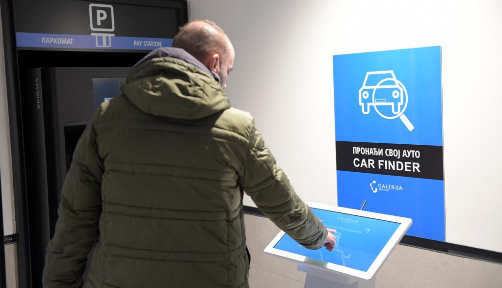 """Inovativni parking sistem Galerije Belgrade Čuveno pitanje """"Gde mi je auto?"""" odlazi u prošlost!"""