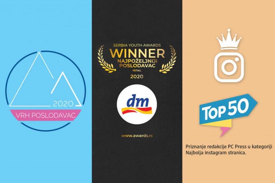 Kompanija dm apsolutni favorit mladih: Priznanje za najpoželjnijeg poslodavca i još tri nagrade od početka godine