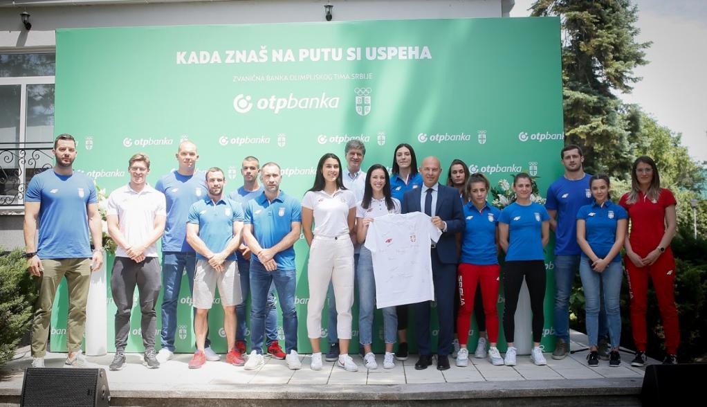 Zajednički događaj OTP banke i Olimpijskog komiteta Srbije - Najveće okupljanje olimpijaca pre odlaska u Tokio