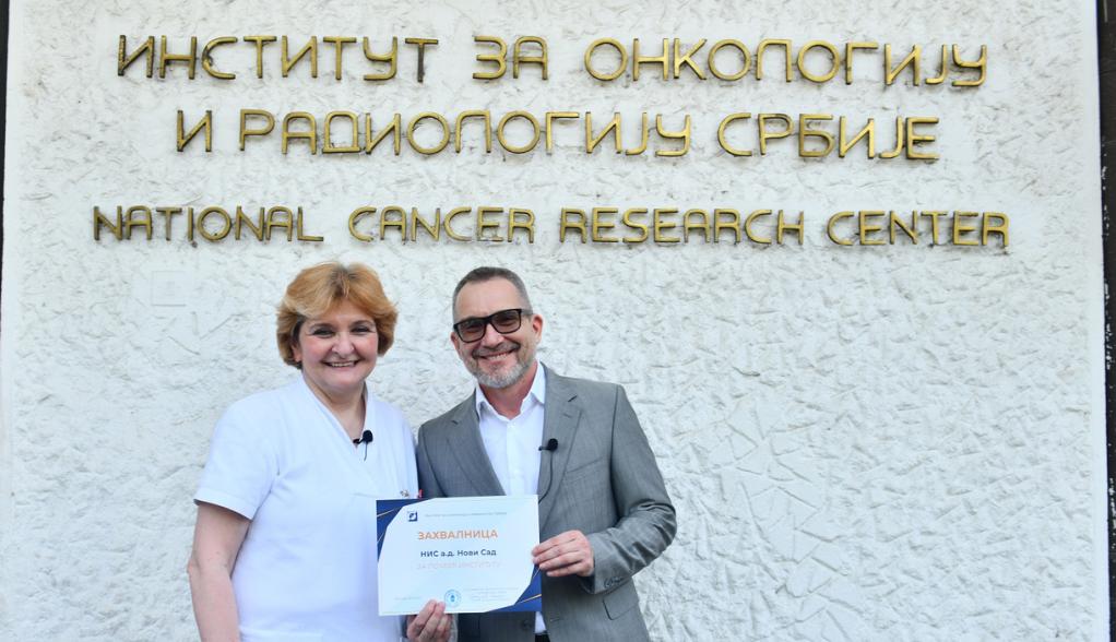 NIS podržao Institut za onkologiju i radiologiju Srbije