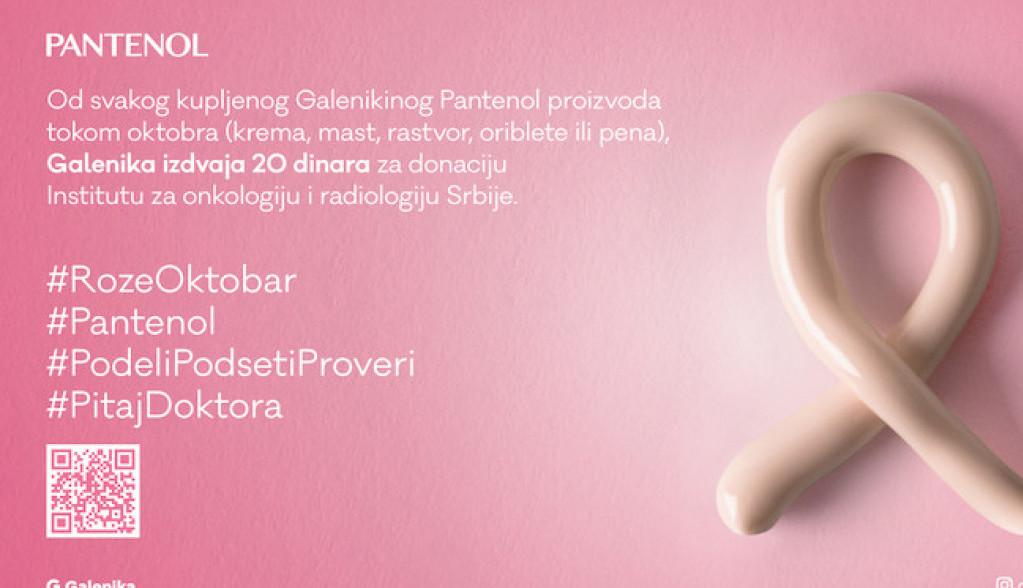 Galenika i Pantenol u Mesecu borbe protiv raka dojke