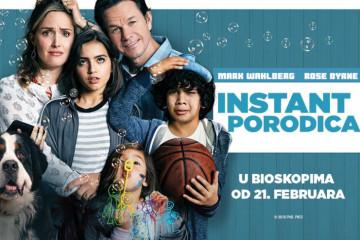 "VREME JE ZA BIOSKOP: Osvojte poklone i karte za film ""INSTANT PORODICA"""