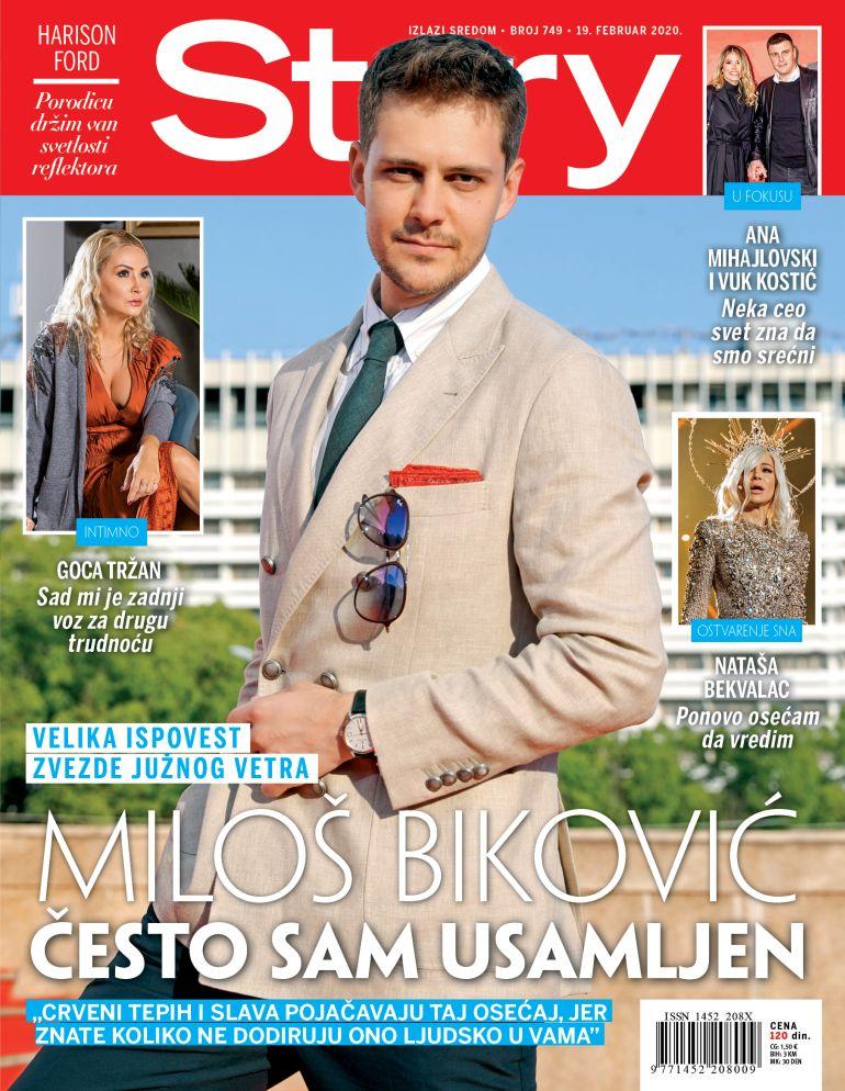 miloš biković naslovna strana story magazin